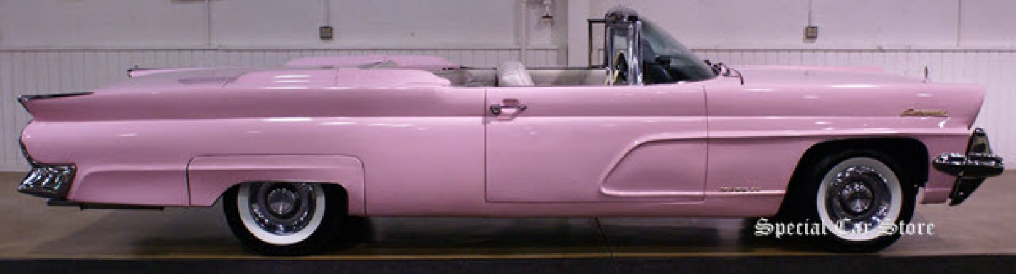 1959 Lincoln Pink Continental IV convertible at Barrett-Jackson Orange County 2011