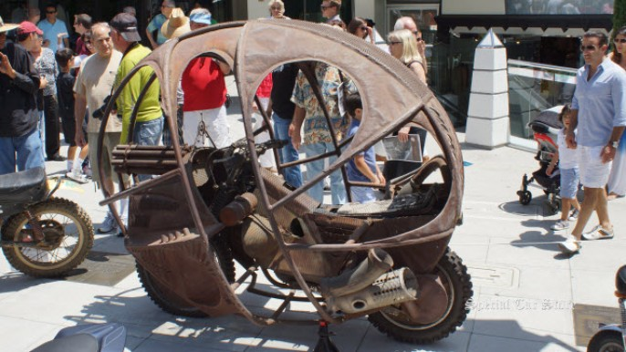 """Honda XR-500 """"Spacehunter"""" movie prop at Rodeo Drive Concours d'Elegance 2013"""