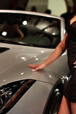 Model with 2014 Jaguar F-Type Convertible | Galpin Jaguar