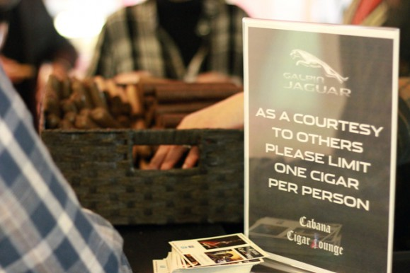 Cigar stand at the Unveiling of the 2014 Jaguar F-Type Convertible | Galpin Jaguar