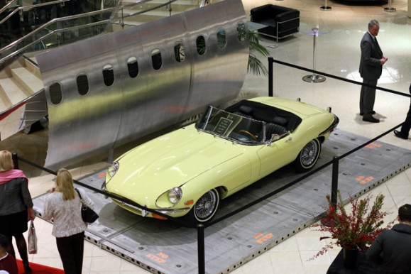 Classic Jaguar at Unveiling of the 2014 Jaguar F-Type Convertible | Galpin Jaguar
