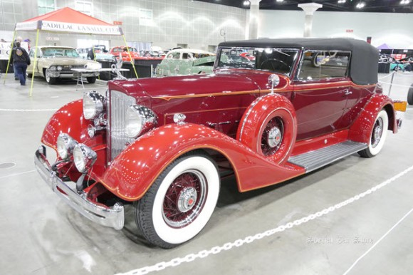 1934 Packard Super 8 Convertible Victoria at The Classic Auto Show 2017