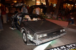 Delorean on display, Downtown Palm Springs - McCormick's Auction 53