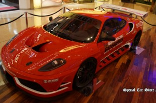 Ferrari F430 GT Race Car on display at Crystals at Citycenter next to the Aria Resorts during CES 2014