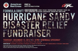 Ride With A Formula Drift Star ... Contribute To Hurricane Relief Fund, Dec 13 2012