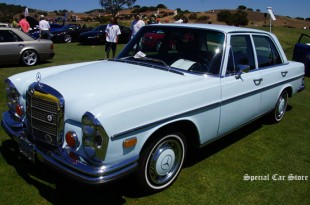 1973 Mercedes-Benz 280 SE 4.5 Agua Blue at Legends of the Autobahn 2014