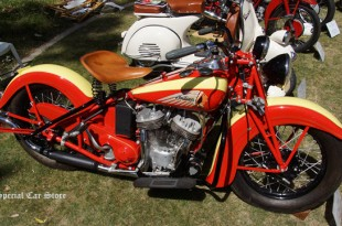 """1939 Indian """"Sport Scout"""" at Greystone Mansion Concours d'Elegance 2014"""
