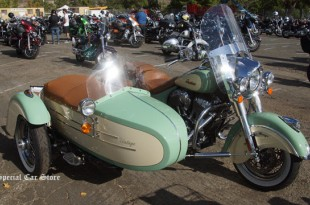 Indian Chief Vintage motorcycle and sidecar at Harley-Davidson of Glendale 32nd Love Ride