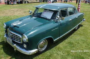 1955 Hudson Rambler unrestored at Steve McQueen Car and Motorcycle Show 2013