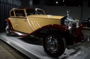 """1930 Rolls-Royce Phantom I """"Windblown"""" Coupe by Brewster and Co. at Peterson Automotive Museum"""