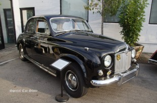 """1955 Rover P4 at """"Steering With Your Knees"""" book signing event at Etceterini Garage"""